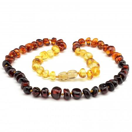 (5 pcs.) Baroque baltic amber necklace 147