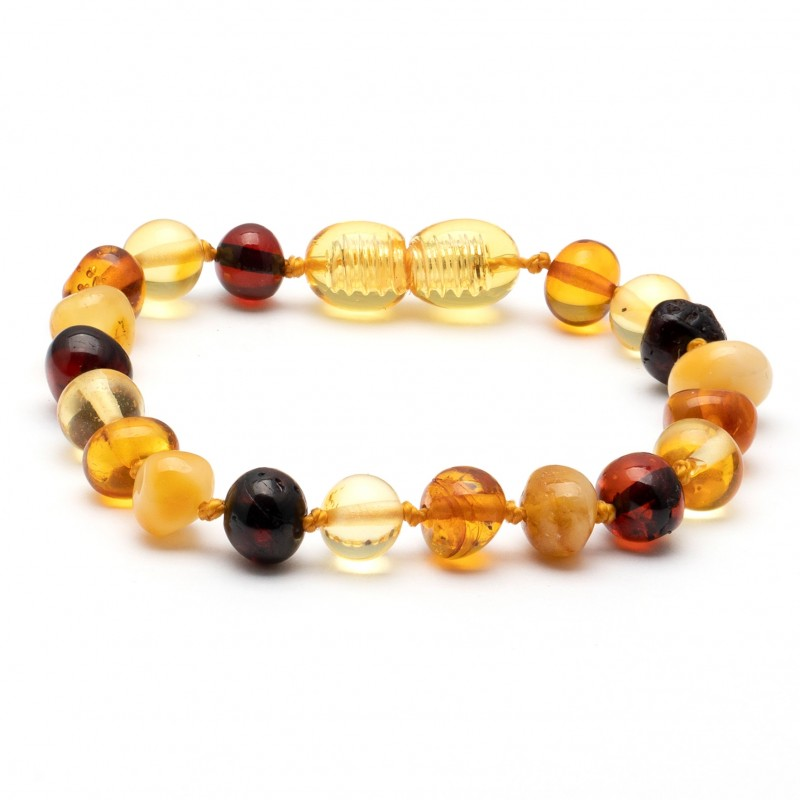 (10 pcs.) Baroque amber teething bracelet 7