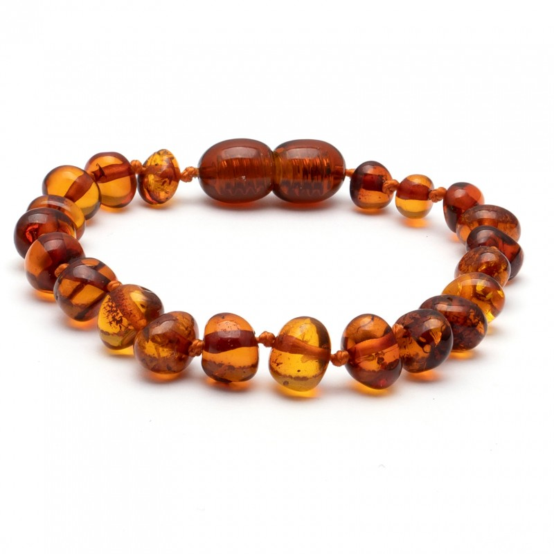 (10 pcs.) Baroque amber teething bracelet 13