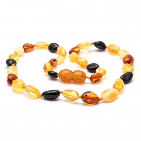 Baby teething amber necklace 23