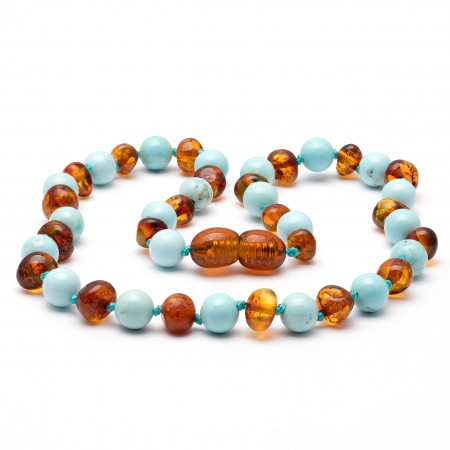 Amber teething necklace 135