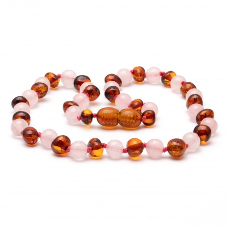 Amber teething necklace 130